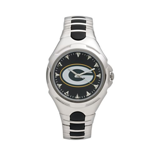Game Time Victory Series Green Bay Packers Silver-Tone Watch - Men