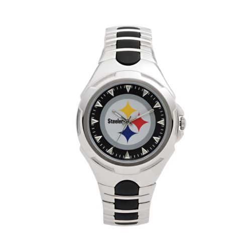 Game Time Victory Series Pittsburgh Steelers Silver-Tone Watch - Men