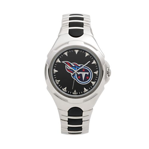 Game Time Victory Series Tennessee Titans Silver-Tone Watch - Men