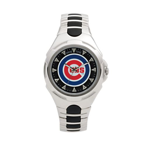 Game Time Victory Series Chicago Cubs Silver-Tone Watch - Men