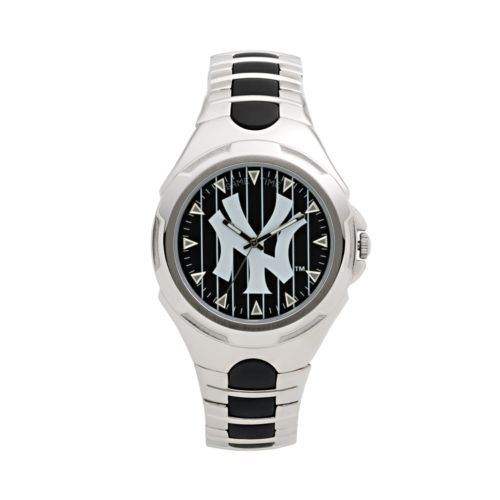 Game Time Victory Series New York Yankees Silver-Tone Watch - Men
