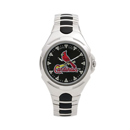 Game Time Victory Series St. Louis Cardinals Silver-Tone Watch - Men