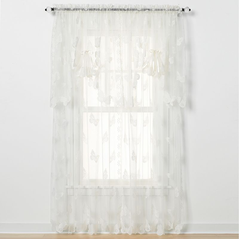 Butterfly Lace Swag Valance - 56'' x 38''