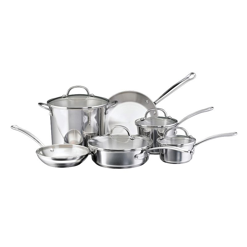 Farberware Millennium 10-pc. Stainless Steel Cookware Set