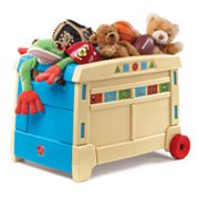 Step2 Lift and Roll Toy Box, Multicolor