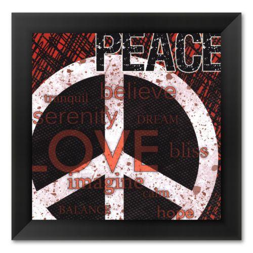 Peace Framed Art Print by Louise Carey