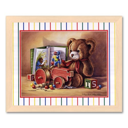 Child Toys II Framed Art Print by Peggy Thatch Sibley