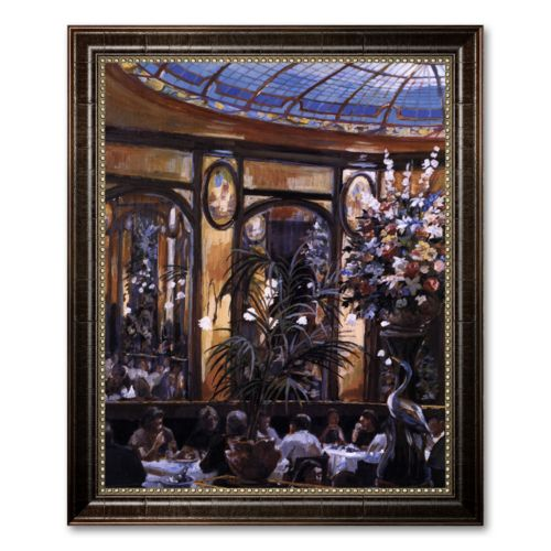 Restaurant View Framed Canvas Art by Lowndes