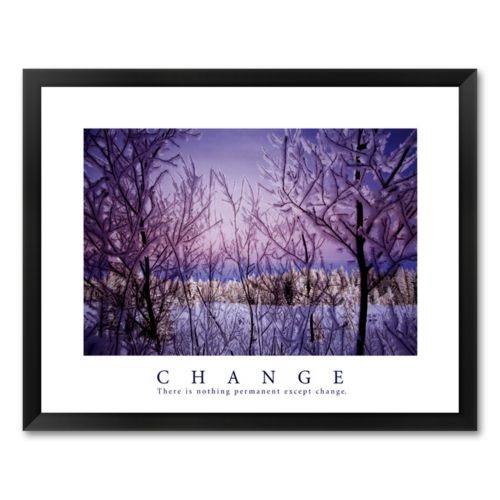 Change - There is Nothing Permanent Except Change Framed Art Print