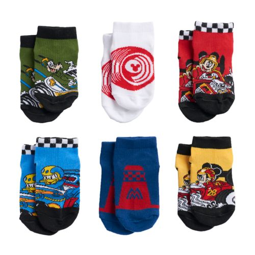Disney 6-pk. 1/4-Crew Socks