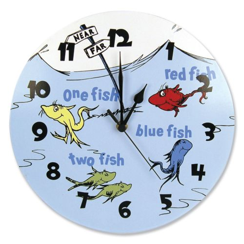 Trend Lab Dr. Seuss One Fish, Two Fish Wall Clock