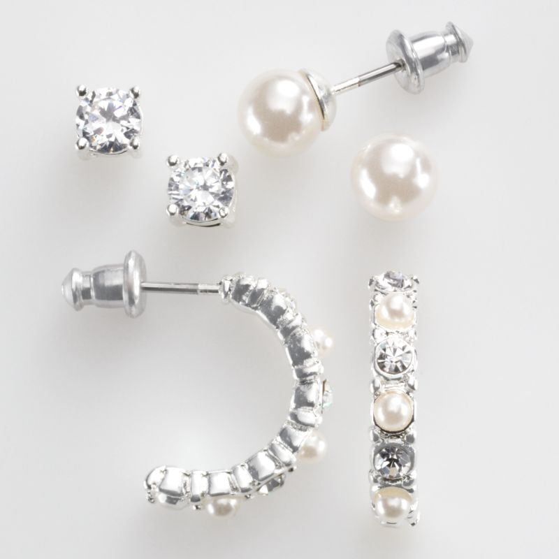 Hoop Earrings With Studs Stud And Hoop Earring