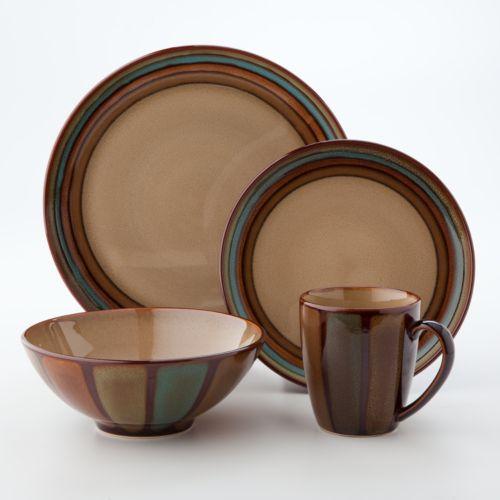 Sango Flair Brown 16-pc. Dinnerware Set