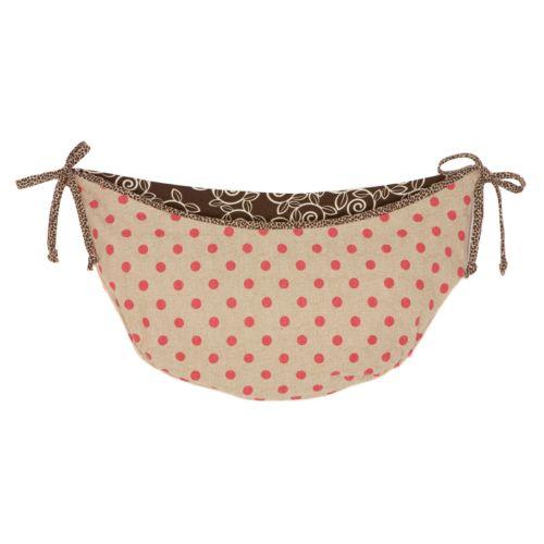 Cotton Tale Raspberry Dot Toy Bag