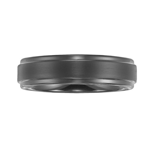 Cherish Always Tungsten Carbide Black Ion Wedding Band - Men