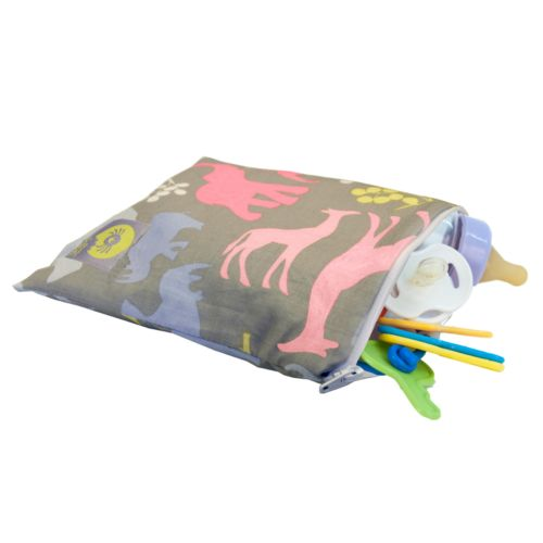 Little Luxe Jungle Animals BPA-Free Reusable Snack Bag