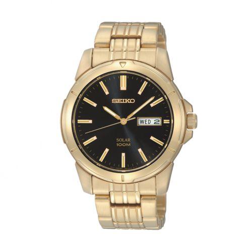 Seiko Men's Stainless Steel Solar Watch - SNE100