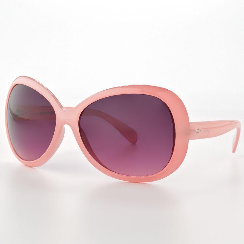 Unionbay Pink Oversized Oval Sunglasses