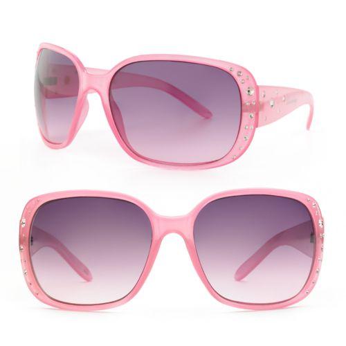 Unionbay Rhinestone Oversized Sunglasses