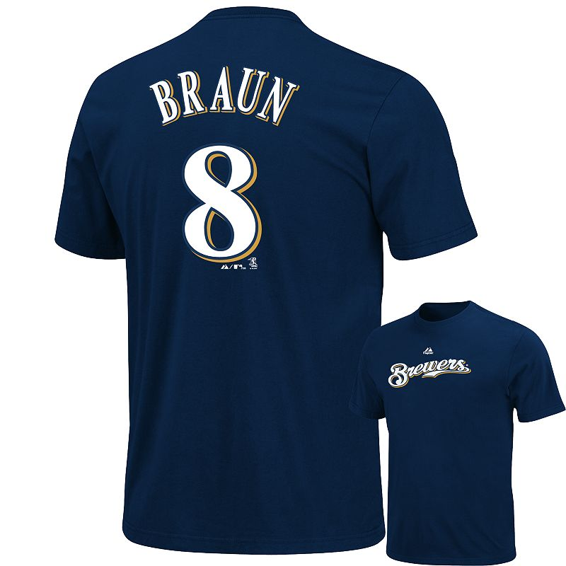 Big & Tall Majestic Milwaukee Brewers Ryan Braun Tee