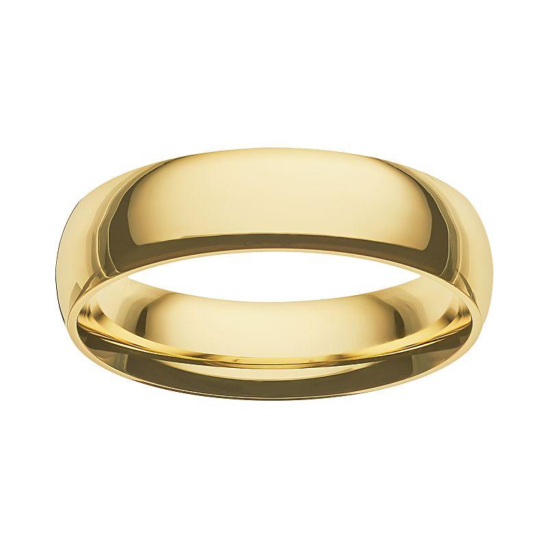 14k gold mens wedding band kohl 39 s for Kohls jewelry mens rings