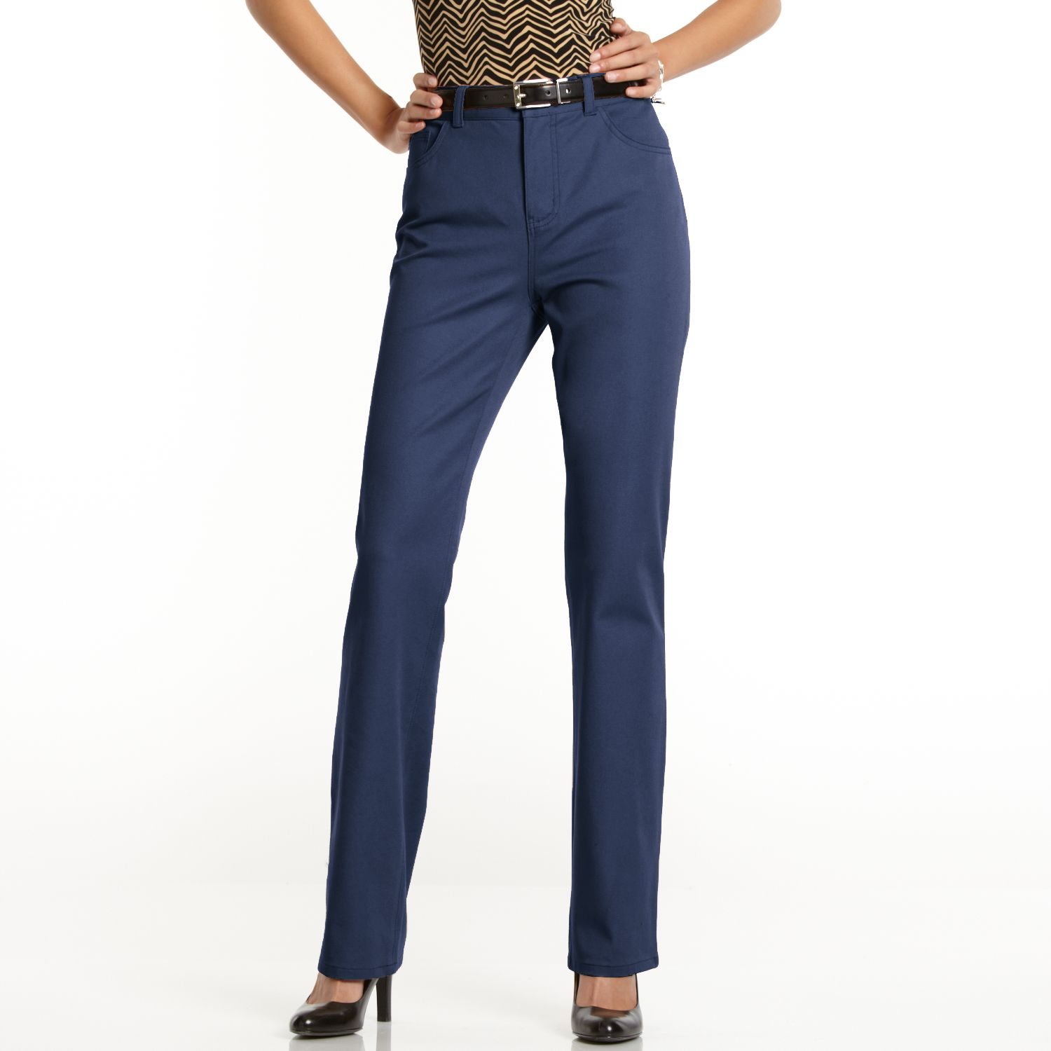Navy Blue Womens Dress Pants - Fat Pants