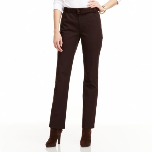 Chaps Twill Dress Pants - Women's