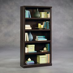 Sauder 5-Shelf Split Bookcase by