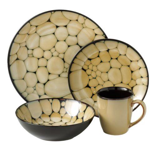 SONOMA life + style® Cobblestone 16-pc. Dinnerware Set