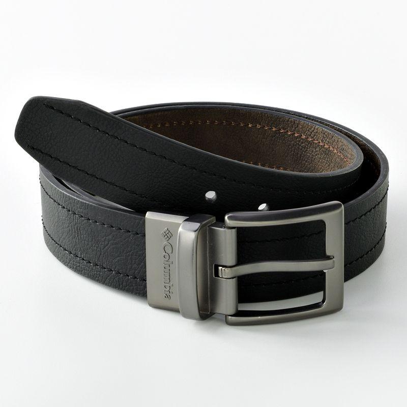 Men's Columbia Logo Buckle Reversible Leather Belt