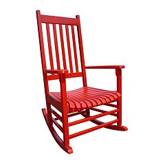 Classic Red Porch Rocking Chair Outdoor
