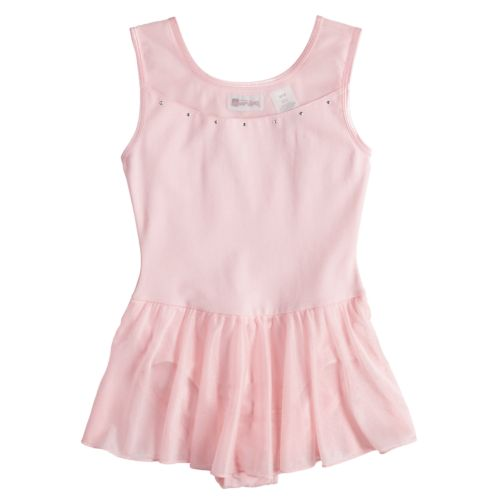 Jacques Moret Stud Sparkle Skirted Tank Dance Leotard - Girls