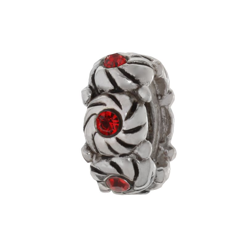 Individuality Beads Sterling Silver Crystal Swirl Bead
