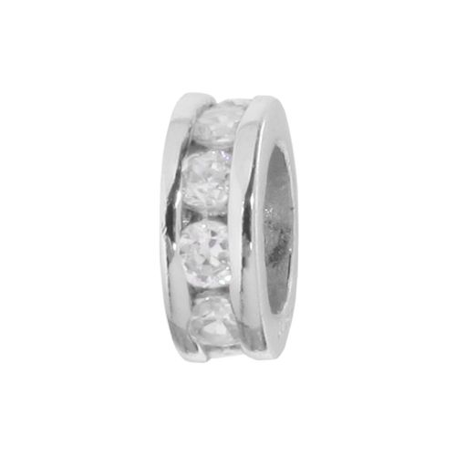 Individuality Beads Sterling Silver Crystal Round Bead