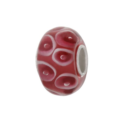 Individuality Beads Sterling Silver Dotted Glass Bead