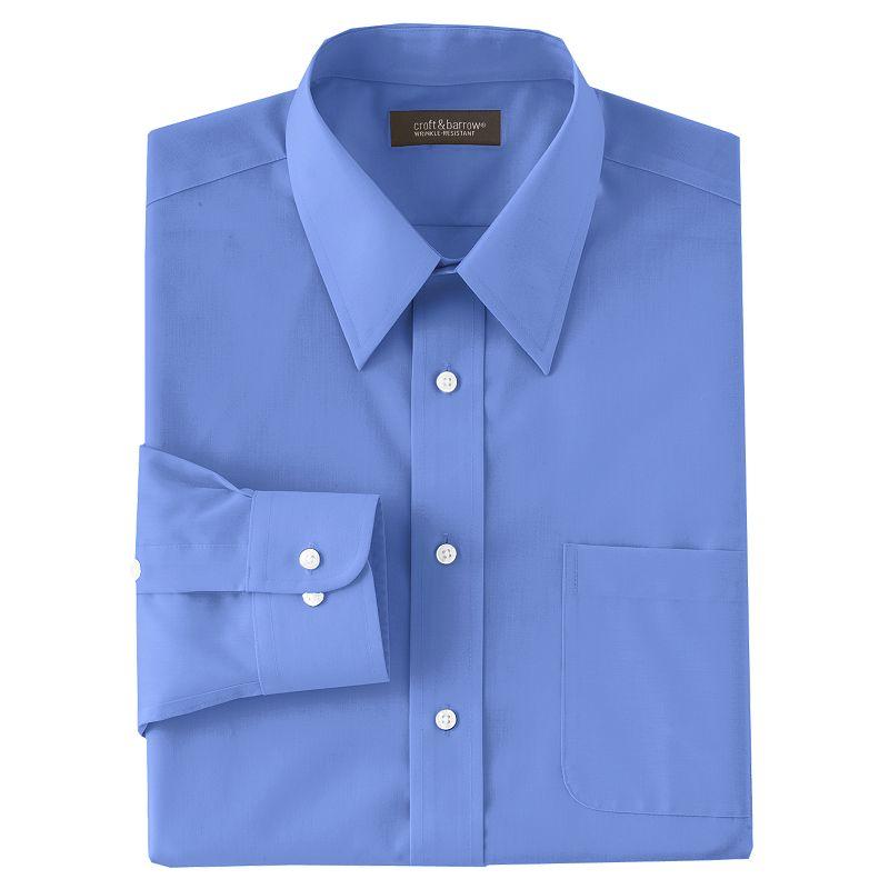 Men's Croft & Barrow® Classic-Fit Solid Broadcloth Point-Collar Dress Shirt
