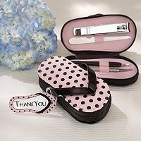 Kate Aspen Polka-Dot Flip Flop Pedicure Set