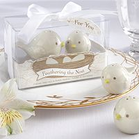 Kate Aspen Feathering the Nest Bird Salt & Pepper Shakers