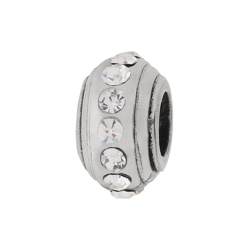 Individuality Beads Sterling Silver Crystal Stopper Bead