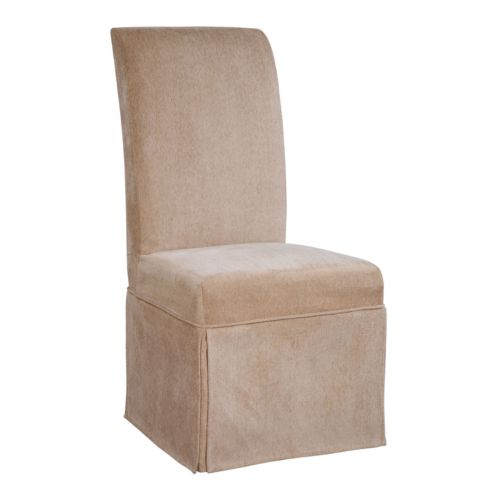 Chenille Skirted Dining Chair Slipcover
