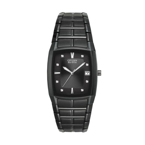 Citizen Watch - Men's Eco-Drive Black Ion-Plated Stainless Steel - BM6555-54E