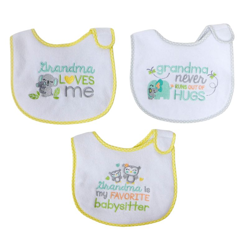 Baby Treasures Neutral 3-pk. Bibs, Yellow thumbnail