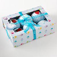 Baby Blooms Cupcake Pajama & Bib Gift Set
