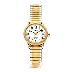 Timex Women's Easy Reader Two Tone Stainless Steel Expansion Watch T2H381