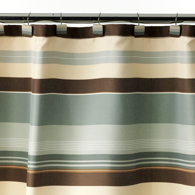 Madison Striped Fabric Shower Curtain