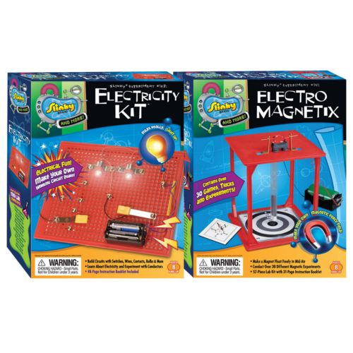 Slinky Science Electricity Kit and Electro-Magnetix Combo Pack