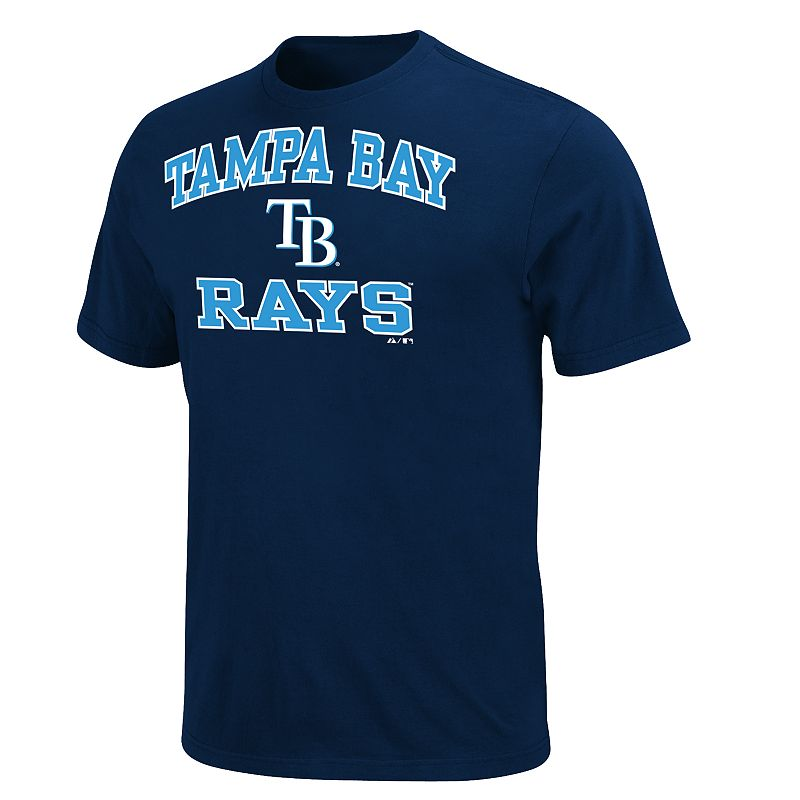 Men's Majestic Tampa Bay Rays Heart & Soul II Tee