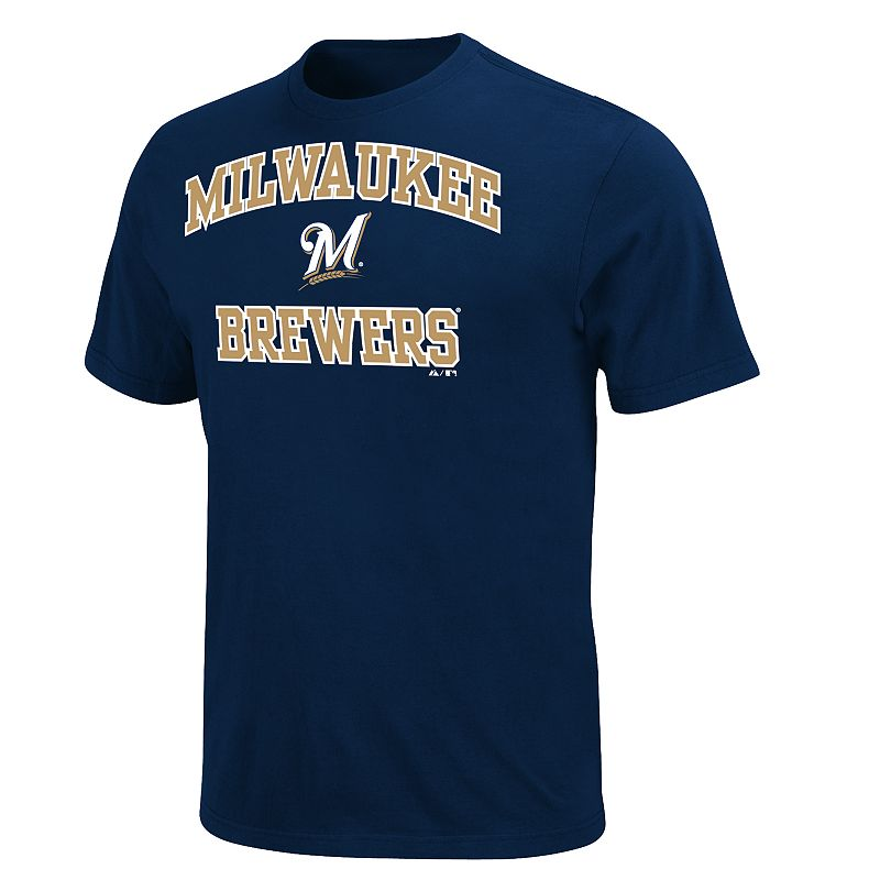 Men's Majestic Milwaukee Brewers Heart & Soul II Tee