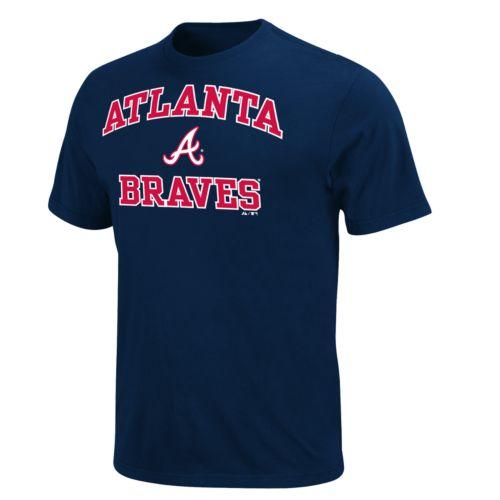 Men's Majestic Atlanta Braves Heart & Soul II Tee