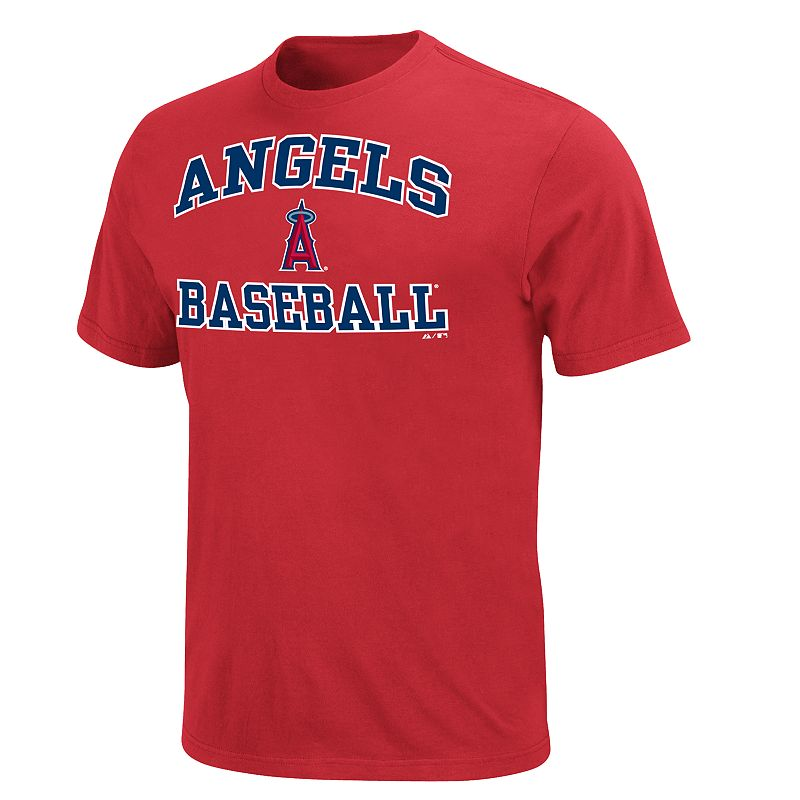 Men's Majestic Los Angeles Angels of Anaheim Heart & Soul II Tee